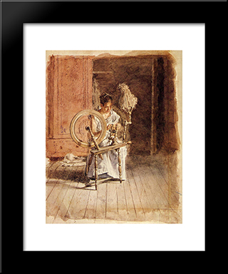 Spinning: Modern Custom Black Framed Art Print by Thomas Eakins