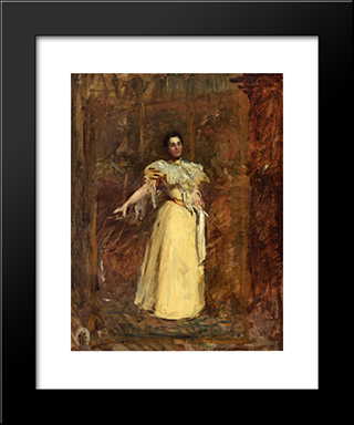 Study For The Portrait Of Miss Emily Sartain: Modern Custom Black Framed Art Print by Thomas Eakins