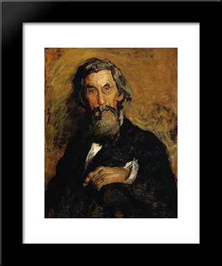 Portrait Of William H. Macdowell: Modern Custom Black Framed Art Print by Thomas Eakins