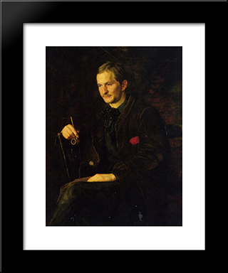 The Art Student: Modern Custom Black Framed Art Print by Thomas Eakins