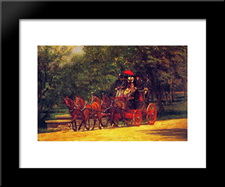 A May Morning In The Park: Modern Custom Black Framed Art Print by Thomas Eakins