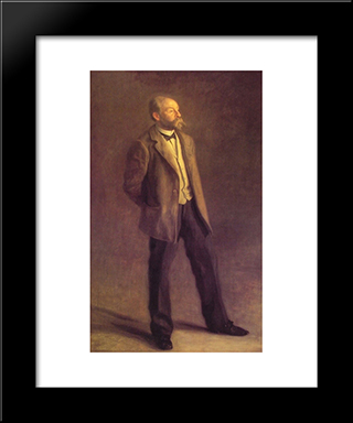 John Mcclure Hamilton: Modern Custom Black Framed Art Print by Thomas Eakins