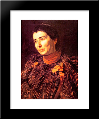 Mary Adeline Williams (Addie): Modern Custom Black Framed Art Print by Thomas Eakins