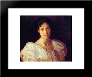 Miss Lucy Lewis: Modern Custom Black Framed Art Print by Thomas Eakins