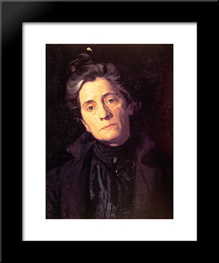 Mrs Thomas Eakins: Modern Custom Black Framed Art Print by Thomas Eakins