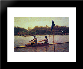 The Biglin Brothers Turning The Stake: Modern Custom Black Framed Art Print by Thomas Eakins