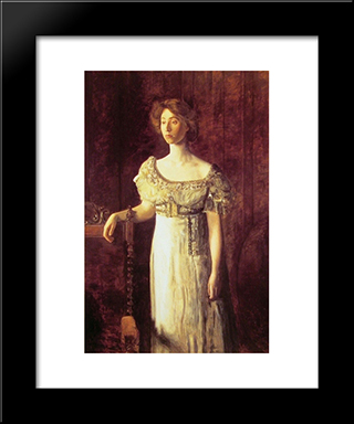 The Old Fashioned Dress'Portrait Of Miss Helen Parker: Modern Custom Black Framed Art Print by Thomas Eakins