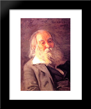 Walt Whitman: Modern Custom Black Framed Art Print by Thomas Eakins