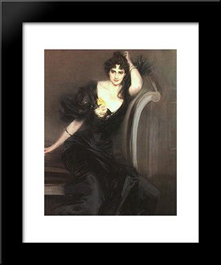 Lady Colin Campbell: Modern Custom Black Framed Art Print by Giovanni Boldini