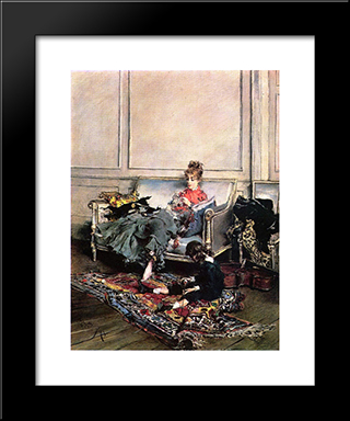 Peaceful Days: Modern Custom Black Framed Art Print by Giovanni Boldini