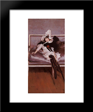 Portrait Of Giovinetta Errazuriz: Modern Custom Black Framed Art Print by Giovanni Boldini