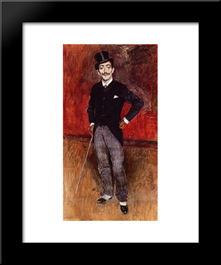 Portrait Of The Comte De Rasty: Modern Custom Black Framed Art Print by Giovanni Boldini