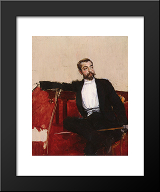 L'Uomo Dallo Sparato: Modern Custom Black Framed Art Print by Giovanni Boldini