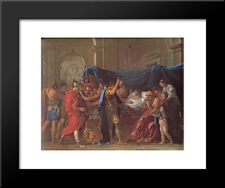 The Death Of Germanicus ' Detail: Modern Custom Black Framed Art Print by Nicolas Poussin