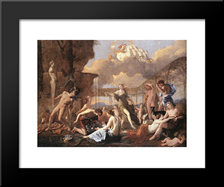 The Empire Of Flora: Modern Custom Black Framed Art Print by Nicolas Poussin