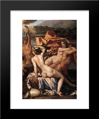The Triumph Of Neptune [Detail: 2]: Modern Custom Black Framed Art Print by Nicolas Poussin