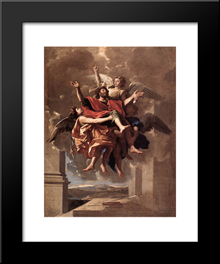 The Ecstasy Of St Paul: Modern Custom Black Framed Art Print by Nicolas Poussin