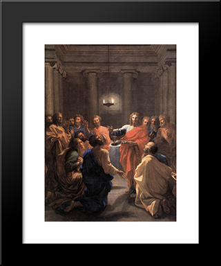 The Institution Of The Eucharist: Modern Custom Black Framed Art Print by Nicolas Poussin