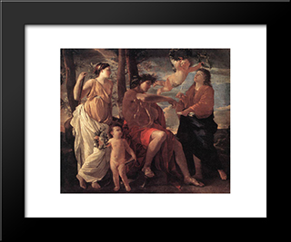 The Inspiration Of The Poet: Modern Custom Black Framed Art Print by Nicolas Poussin