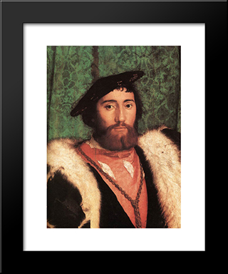 The Ambassadors [Detail: 1]: Modern Custom Black Framed Art Print by Hans Holbein the Younger