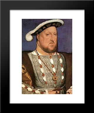 Portrait Of Henry Viii: Modern Custom Black Framed Art Print by Hans Holbein the Younger