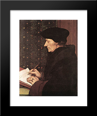 Erasmus: Modern Custom Black Framed Art Print by Hans Holbein the Younger