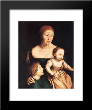 The Artist'S Family: Modern Custom Black Framed Art Print by Hans Holbein the Younger