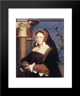 Portrait Of Lady Mary Guildford: Modern Custom Black Framed Art Print by Hans Holbein the Younger