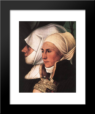Darmstadt Madonna [Detail: 4]: Modern Custom Black Framed Art Print by Hans Holbein the Younger
