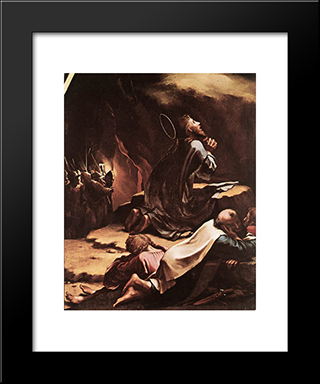 The Passion [Detail: 1]: Modern Custom Black Framed Art Print by Hans Holbein the Younger