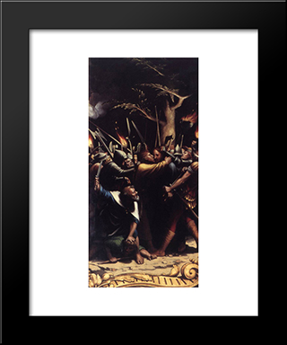The Passion [Detail: 2]: Modern Custom Black Framed Art Print by Hans Holbein the Younger