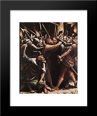 The Passion [Detail: 3]: Modern Custom Black Framed Art Print by Hans Holbein the Younger