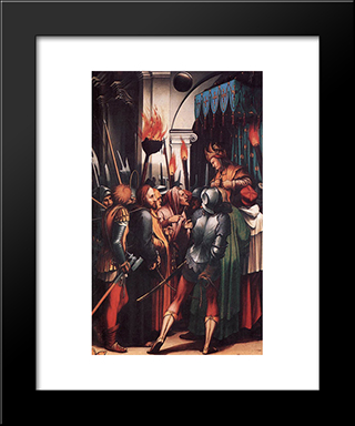 The Passion [Detail: 4]: Modern Custom Black Framed Art Print by Hans Holbein the Younger