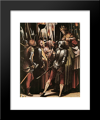 The Passion [Detail: 5]: Modern Custom Black Framed Art Print by Hans Holbein the Younger