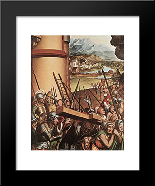 The Passion [Detail: 6]: Modern Custom Black Framed Art Print by Hans Holbein the Younger