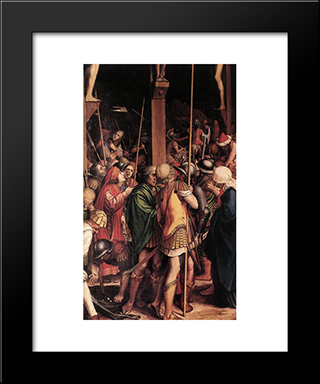 The Passion [Detail: 7]: Modern Custom Black Framed Art Print by Hans Holbein the Younger