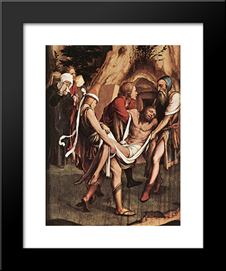 The Passion [Detail: 8]: Modern Custom Black Framed Art Print by Hans Holbein the Younger
