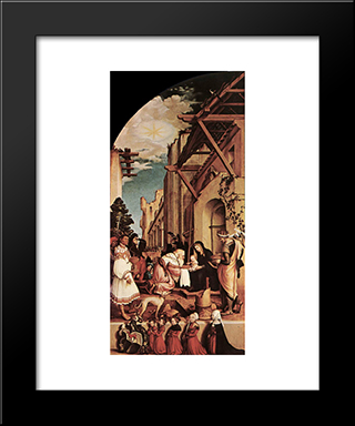 The Oberried Altarpiece (Left Wing): Modern Custom Black Framed Art Print by Hans Holbein the Younger