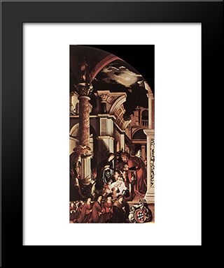 The Oberried Altarpiece (Right Wing): Modern Custom Black Framed Art Print by Hans Holbein the Younger