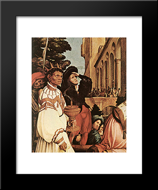 The Oberried Altarpiece [Detail: 2]: Modern Custom Black Framed Art Print by Hans Holbein the Younger