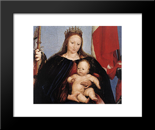 The Solothurn Madonna [Detail: 1]: Modern Custom Black Framed Art Print by Hans Holbein the Younger