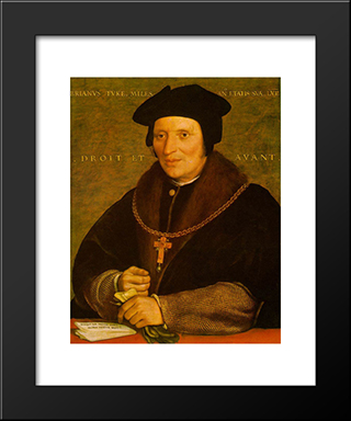 Sir Brian Tuke: Modern Custom Black Framed Art Print by Hans Holbein the Younger