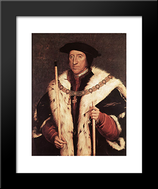 Thomas Howard, Prince Of Norfolk: Modern Custom Black Framed Art Print by Hans Holbein the Younger