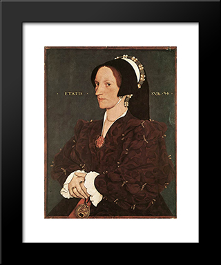 Portrait Of Margaret Wyatt, Lady Lee: Modern Custom Black Framed Art Print by Hans Holbein the Younger