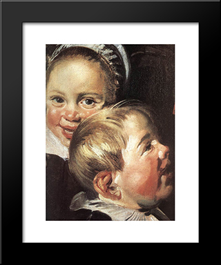 The Rommel Pot Player [Detail]: Modern Custom Black Framed Art Print by Frans Hals