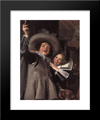 Jonker Ramp And His Sweetheart: Modern Custom Black Framed Art Print by Frans Hals