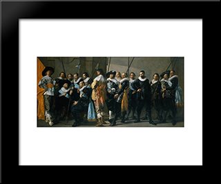 Company Of Captain Reinier Reael, Known As The 'Meagre Company': Modern Custom Black Framed Art Print by Frans Hals
