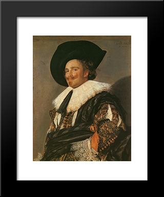 The Laughing Cavalier: Modern Custom Black Framed Art Print by Frans Hals
