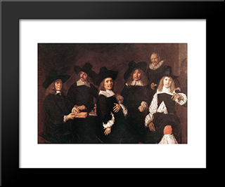 Regents Of The Old Men'S Alms House: Modern Custom Black Framed Art Print by Frans Hals