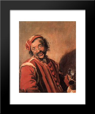 Peeckelhaering: Modern Custom Black Framed Art Print by Frans Hals